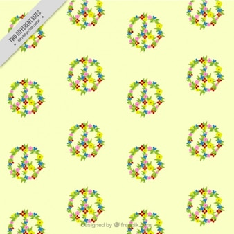 Peace day made of flowers background
