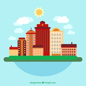 Peaceful city background