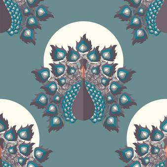 孔雀のパターン設計