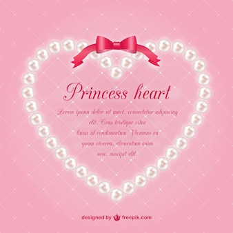 Pearls heart vector template