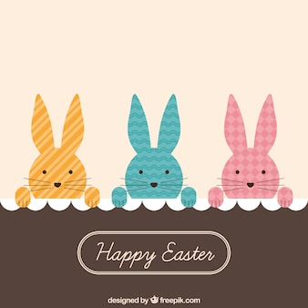 Peeking bunnies easter card