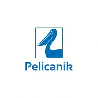 Pelicanik logo template