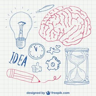 Pen doodles vector school design