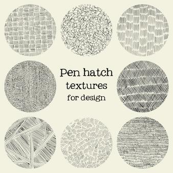 Pen hatch round grunge textures