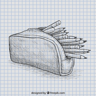 how to draw a pencil box