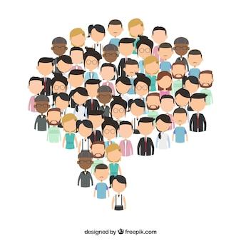 People background design