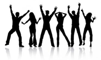 People Dancing Silhouette