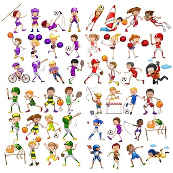People practising sports