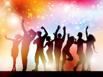 People Silhouttes Party Background