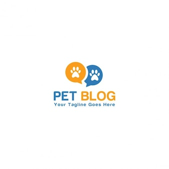 Pet blog logo template