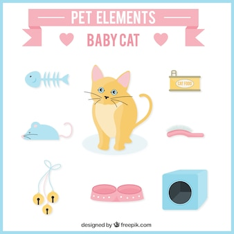 Pet elements for kitten