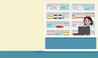 Pharmacy background design
