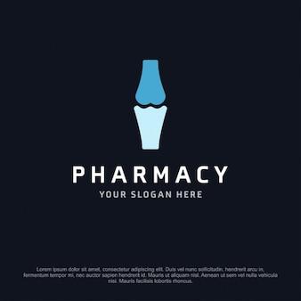 Pharmacy logo with a bone