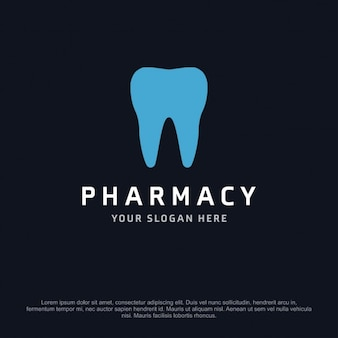 Pharmacy logo with a tooth