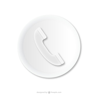 Phone call embossed icon