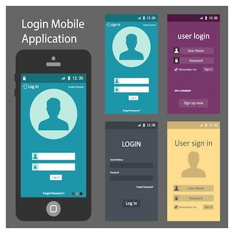 Phone screen templates design