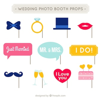 Photo booth party accessories set
