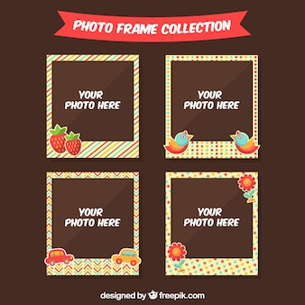 Photo frame pack with decorative elements