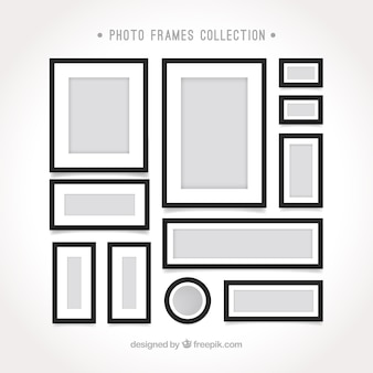 Photo frame templates in flat design