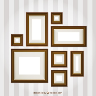 Photo frames set of different sizes