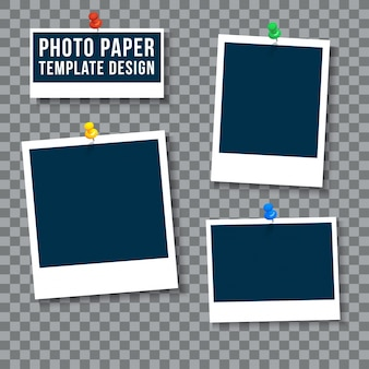 Photo paper template