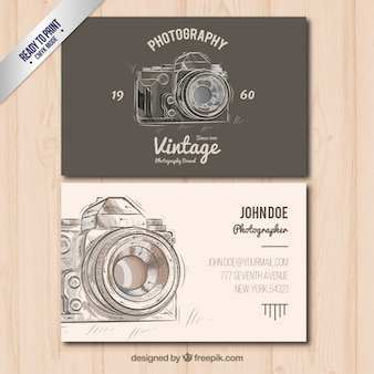 Photographer business card in vintage style