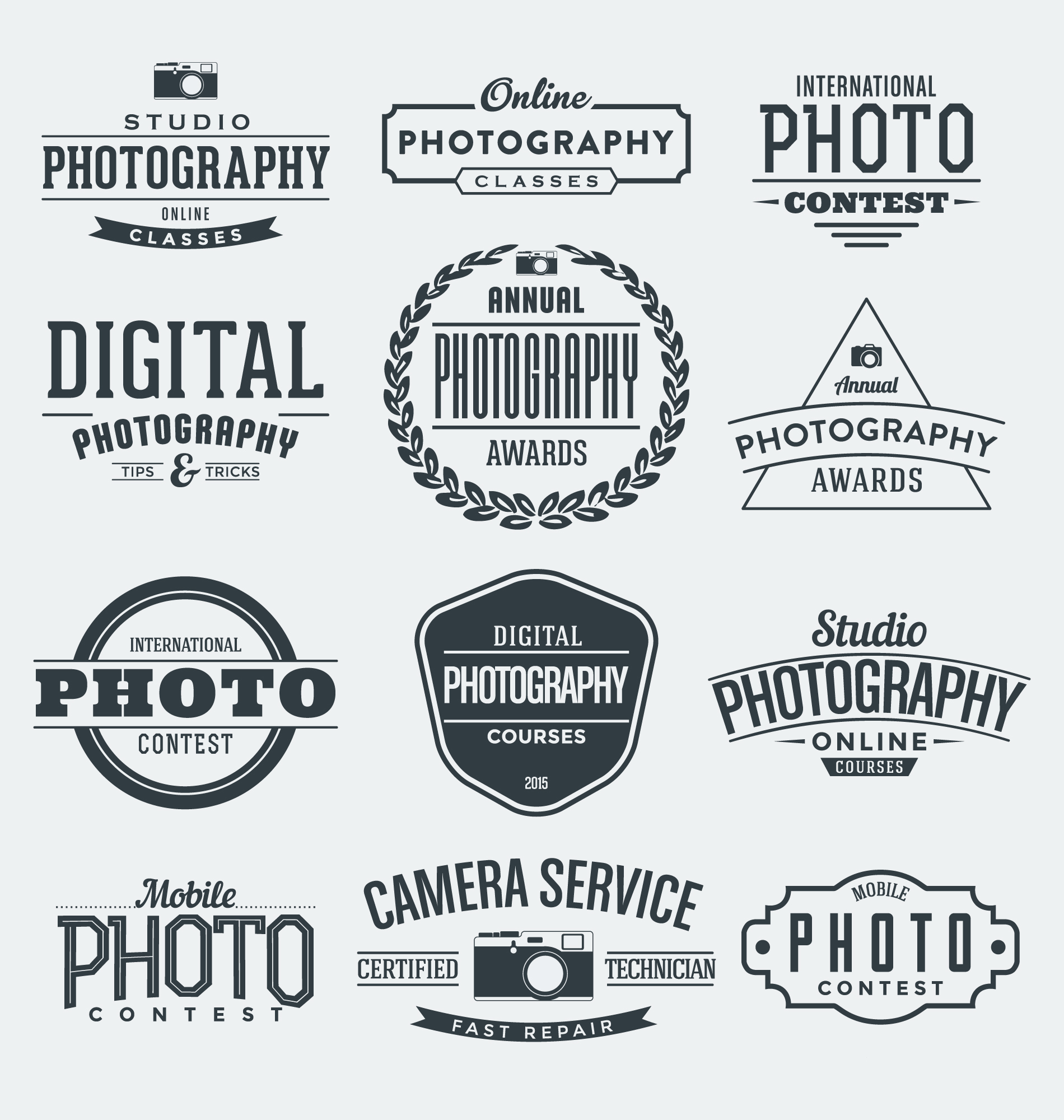 Photography badges collection