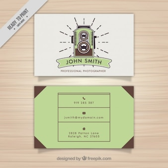 Photography business card, vintage style