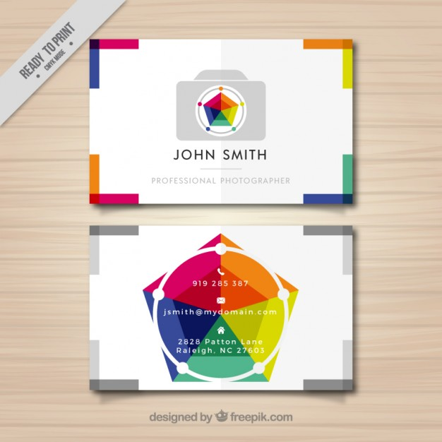 Photography business card full color