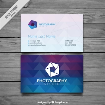 Photography business card, full color