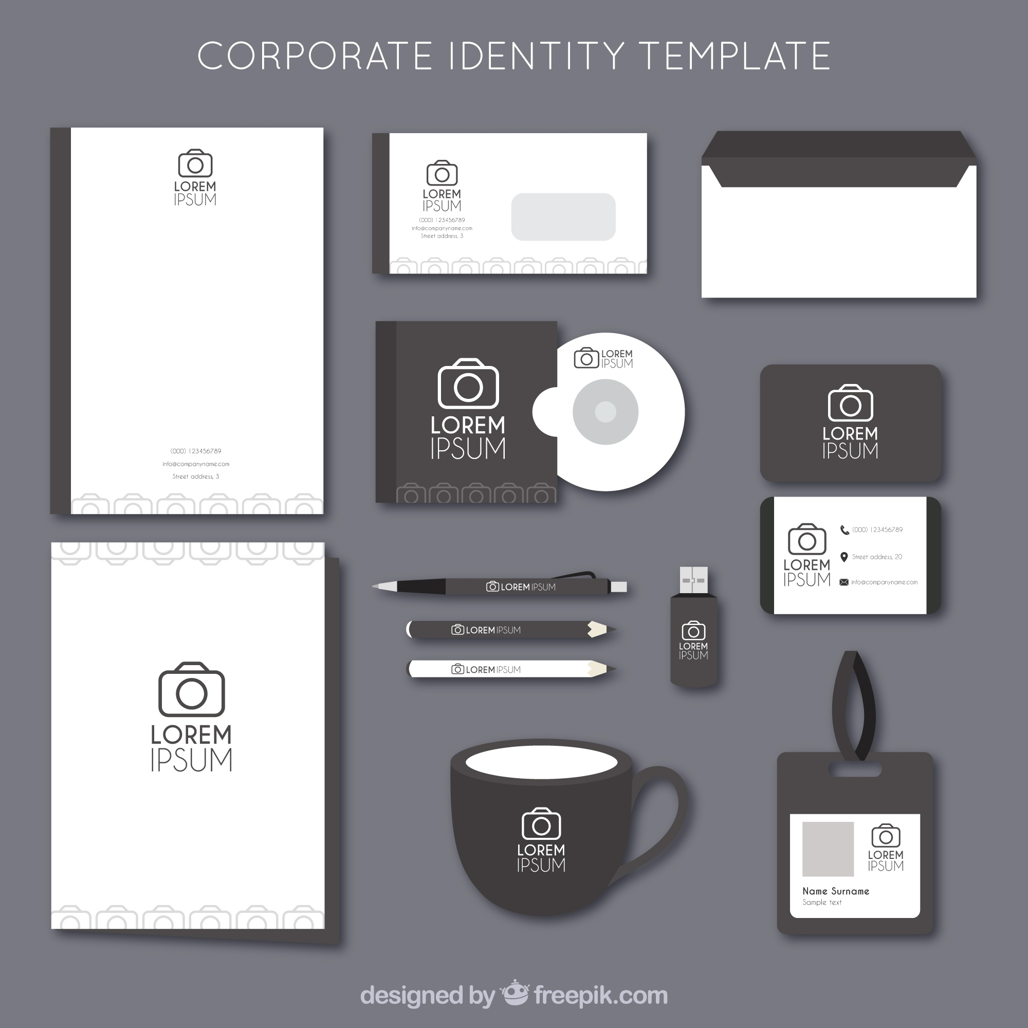 Photography camera logo corporate identity