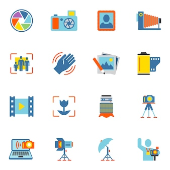 Photography icons collection