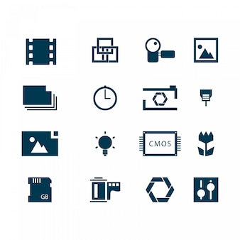 Photography icons vector logo templates