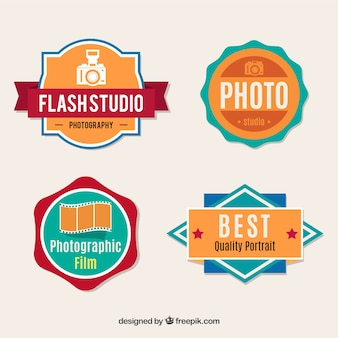 Photography labels collection