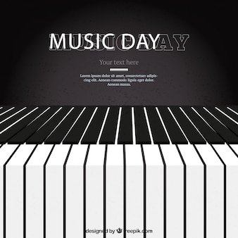 Piano background for the music day