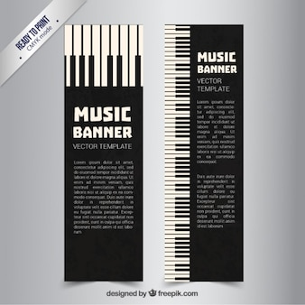 Piano banners