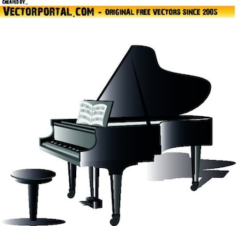 Piano instrument clipart
