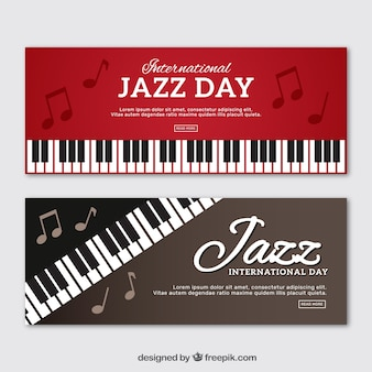 Piano jazz banners