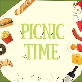 Picnic time illustrations