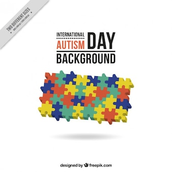 Pieces of puzzle autism day background