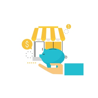 Piggy bank and e-commerce