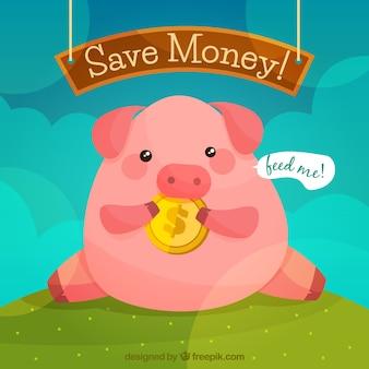 Piggy bank background