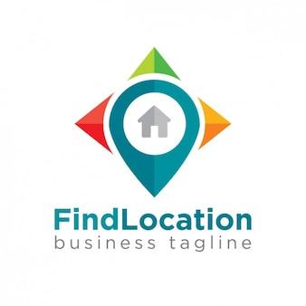 Pin map logo