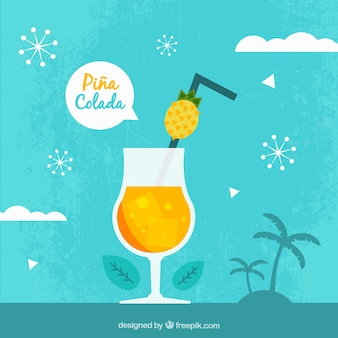 Piña colada background