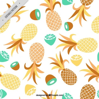 Pineapple and other fruits pattern
