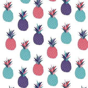 パイナップルのパターンの背景