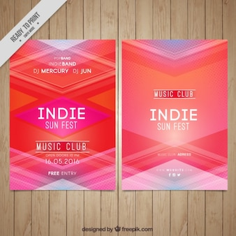 Pink abstract indie poster