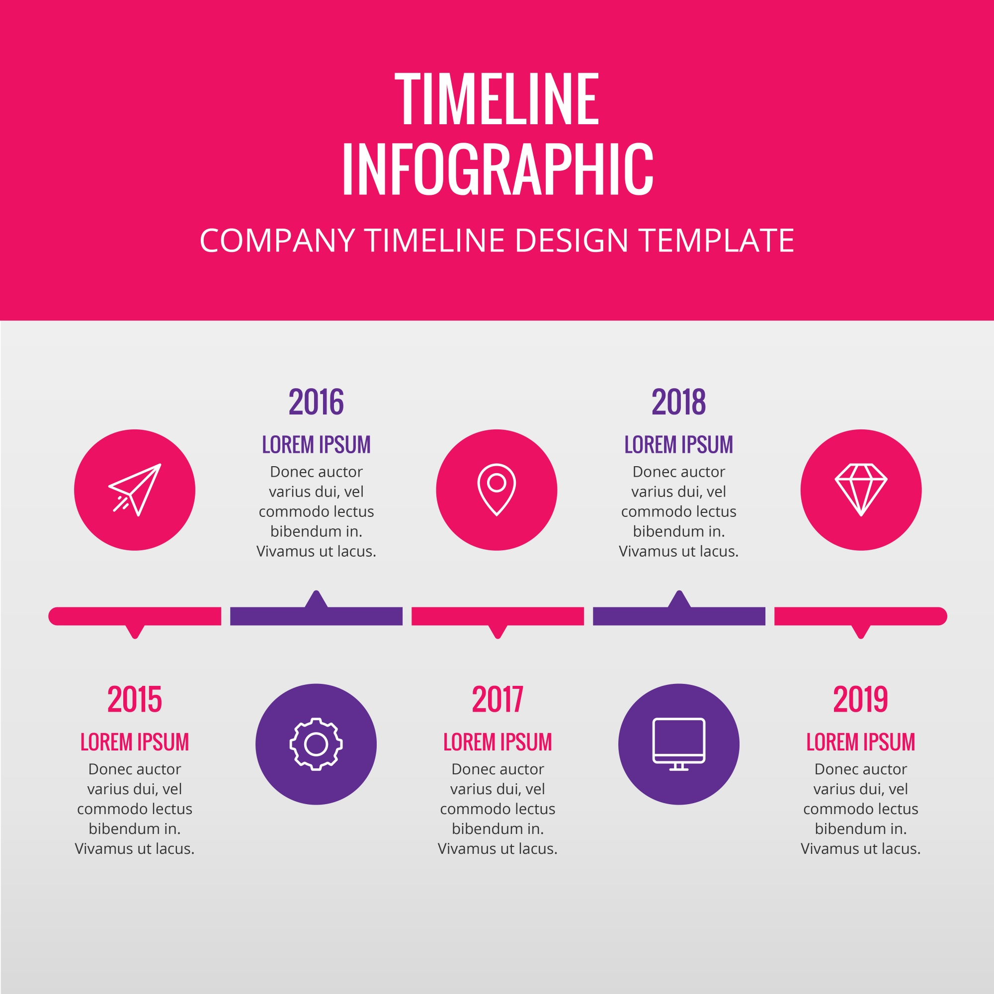 Pink and purple timeline