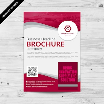 Pink and white buisness brochure