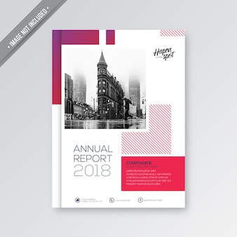 Pink and white business cover
